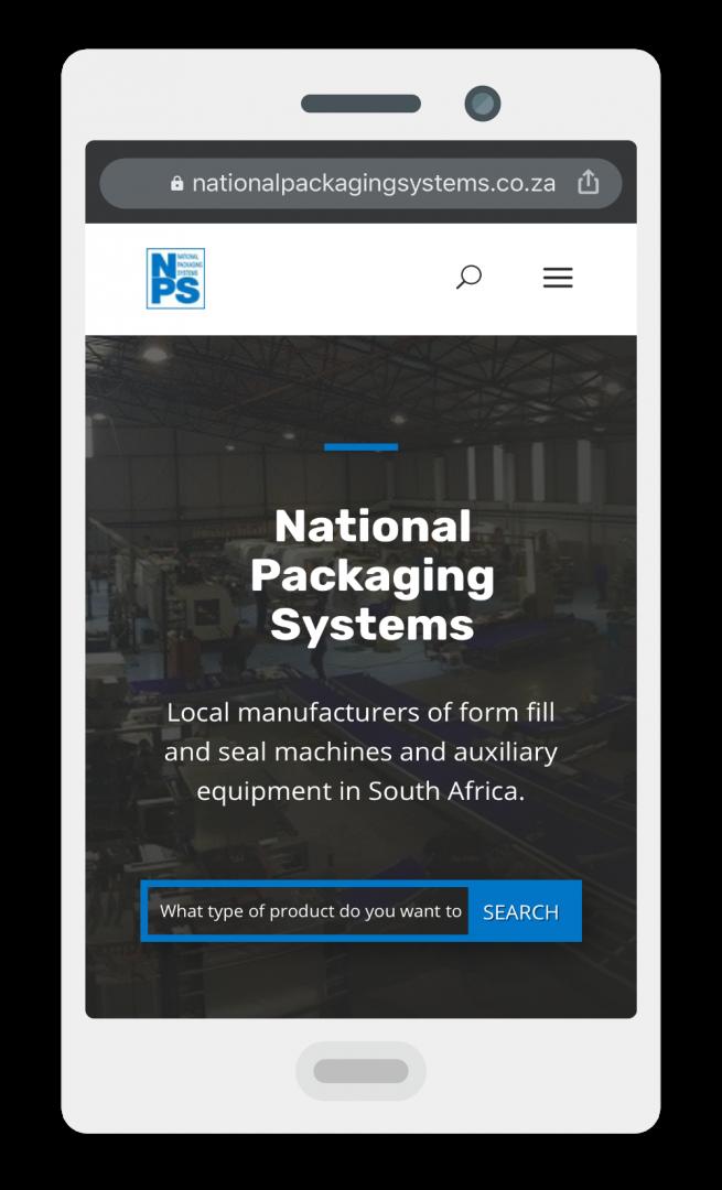 NPS iPhone Screenshot of Website Design by DIGIPIV