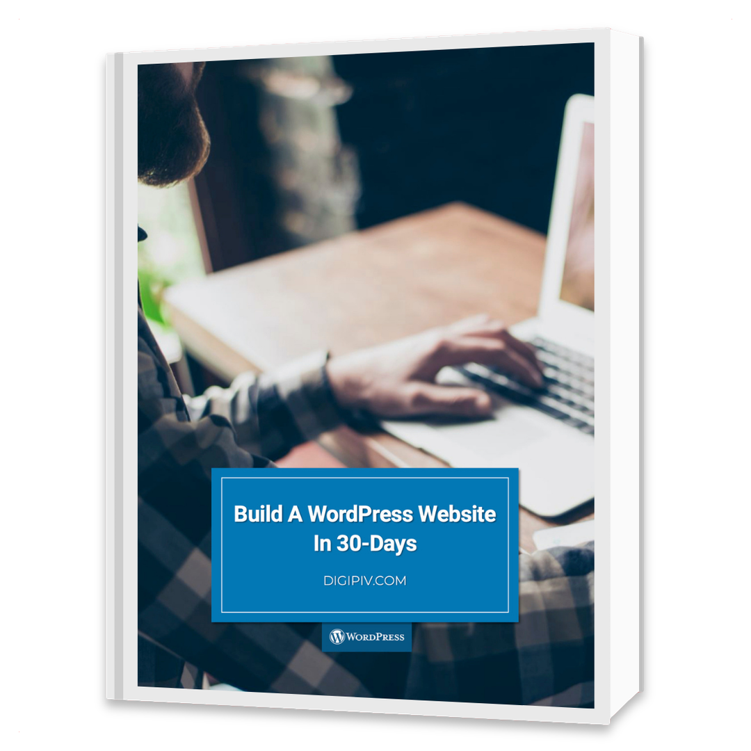 Build A WordPress Website In 30 Days Cover Mockup