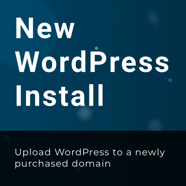 New WordPress Install