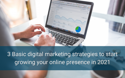 3 Basic digital marketing strategies to start growing your online presence in 2021