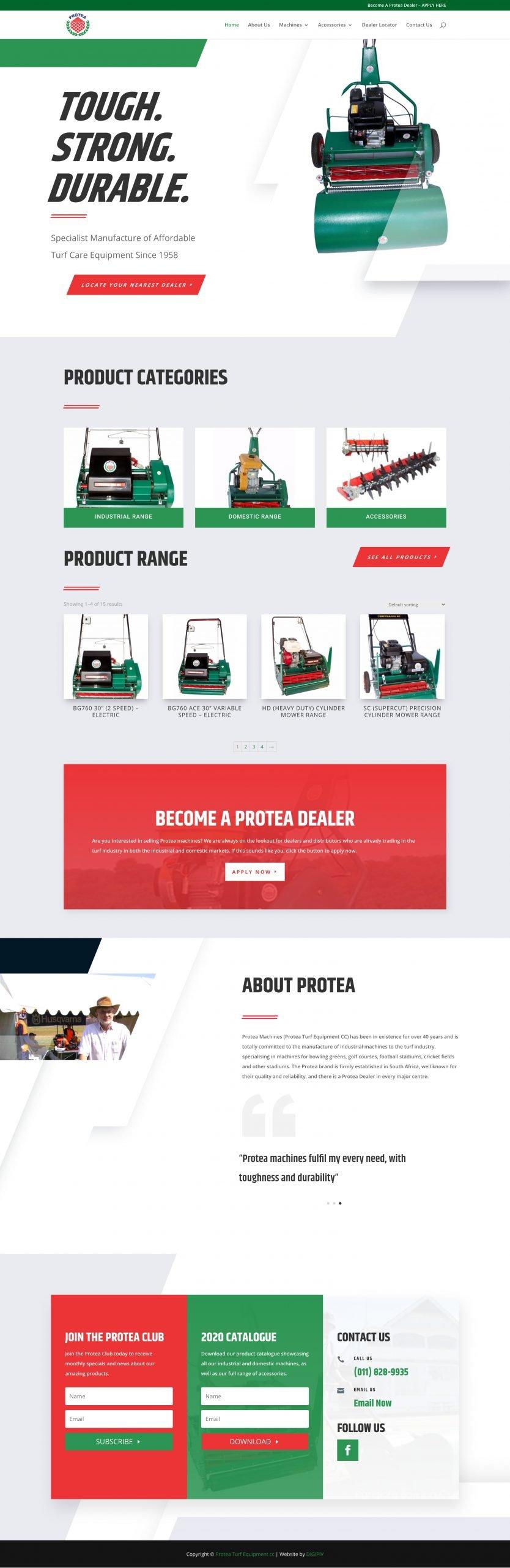 Protea Machines Homepage
