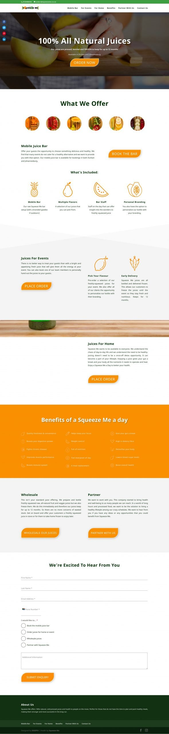Squeeze Me Homepage