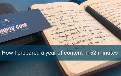 How I prepared a year of content in 52 minutes